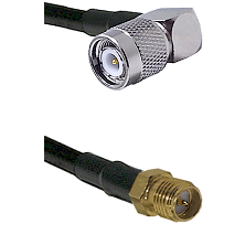 TNC Right Angle Male on LMR-195-UF UltraFlex to SMA Reverse Polarity Female Cable Assembly