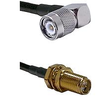 TNC Right Angle Male on LMR-195-UF UltraFlex to SMA Reverse Polarity Female Bulkhead Coaxial Cable A