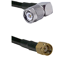 TNC Right Angle Male on LMR-195-UF UltraFlex to SMA Reverse Polarity Male Cable Assembly
