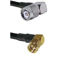 TNC Right Angle Male on LMR-195-UF UltraFlex to SMA Right Angle Male Cable Assembly