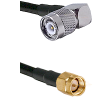 TNC Right Angle Male on LMR-195-UF UltraFlex to SMA Reverse Thread Male Cable Assembly