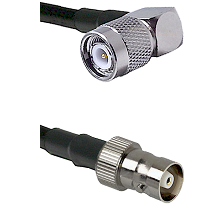 TNC Right Angle Male Connector On LMR-240UF UltraFlex To C Female Connector Cable Assembly