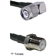 TNC Right Angle Male Connector On LMR-240UF UltraFlex To F Female Connector Cable Assembly