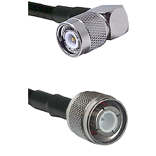 TNC Right Angle Male Connector On LMR-240UF UltraFlex To HN Male Connector Cable Assembly