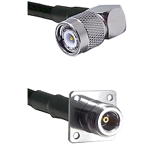 TNC Right Angle Male Connector On LMR-240UF UltraFlex To N 4 Hole Female Connector Coaxial Cable Ass