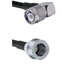 TNC Right Angle Male Connector On LMR-240UF UltraFlex To QN Male Connector Cable Assembly