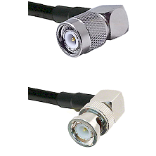 TNC Right Angle Male on LMR240 Ultra Flex to BNC Right Angle Male Cable Assembly