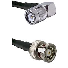 TNC Right Angle Male on LMR240 Ultra Flex to BNC Reverse Polarity Male Cable Assembly