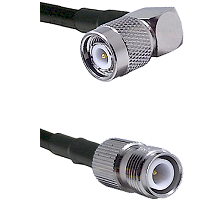 TNC Right Angle Male on LMR240 Ultra Flex to TNC Reverse Polarity Female Cable Assembly