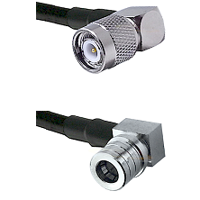 TNC Right Angle Male on LMR240 Ultra Flex to QMA Right Angle Male Cable Assembly