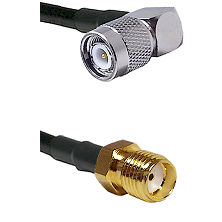 TNC Right Angle Male Connector On LMR-240UF UltraFlex To SMA Reverse Thread Female Connector Coaxial