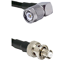 TNC Right Angle Male Connector On LMR-240UF UltraFlex To SHV Plug Connector Cable Assembly