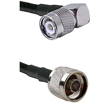Right Angle TNC Male On LMR400UF To N Male Connectors Ultra Flex Coaxial Cable