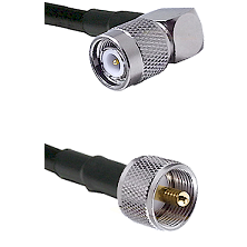 Right Angle TNC Male On LMR400UF To UHF Male Connectors Ultra Flex Coaxial Cable