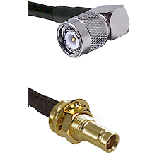 TNC Right Angle Male on RG174 to 10/23 Female Bulkhead Cable Assembly