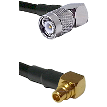 TNC Right Angle Male on RG174 to MMCX Right Angle Male Cable Assembly