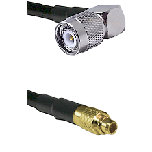 Right Angle TNC Male To MMCX Male Connectors RG179 75 Ohm Cable Assembly