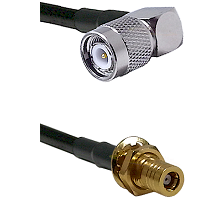TNC Right Angle Male on RG58C/U to SLB Female Bulkhead Cable Assembly