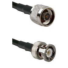 N Reverse Thread Male on LMR100 to BNC Male Cable Assembly