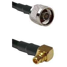 N Reverse Thread Male on LMR100 to MMCX Right Angle Male Cable Assembly