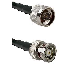 N Reverse Thread Male on LMR100 to BNC Reverse Polarity Male Cable Assembly