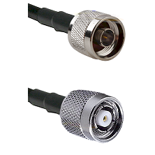N Reverse Thread Male on LMR100/U to TNC Reverse Polarity Male Cable Assembly