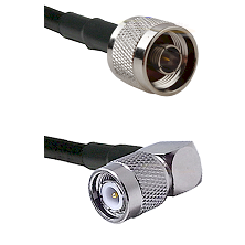 N Reverse Thread Male on LMR240 Ultra Flex to TNC Right Angle Male Cable Assembly