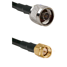 N Reverse Thread Male on LMR240 Ultra Flex to SMA Reverse Thread Male Cable Assembly