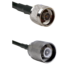 N Reverse Thread Male Connector On LMR-240UF UltraFlex To SC Male Connector Cable Assembly