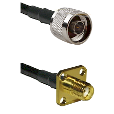 N Reverse Thread Male Connector On LMR-240UF UltraFlex To SMA 4 Hole Female Connector Coaxial Cable