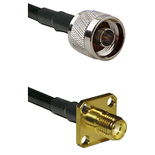 N Reverse Thread Male on LMR240 Ultra Flex to SMA 4 Hole Female Cable Assembly
