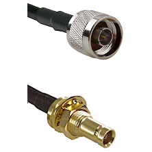 N Reverse Thread Male on RG142 to 10/23 Female Bulkhead Cable Assembly