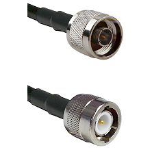 N Reverse Thread Male on RG142 to C Male Cable Assembly