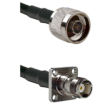 N Reverse Thread Male on RG188 to TNC 4 Hole Female Cable Assembly