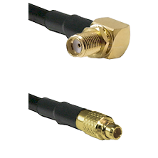 SMA Reverse Thread Right Angle Female Bulkhead on LMR100 to MMCX Male Cable Assembly