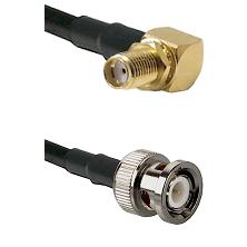 SMA Reverse Thread Right Angle Female Bulkhead on LMR200 UltraFlex to BNC Male Coaxial Cable Assembl