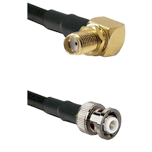 SMA Reverse Thread Right Angle Female Bulkhead on LMR200 UltraFlex to MHV Male Coaxial Cable Assembl