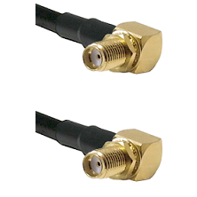 SMA Reverse Thread Right Angle Female Bulkhead Connector On LMR-240UF UltraFlex To SMA Right Angle F