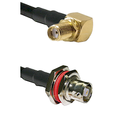 SMA Reverse Thread Right Angle Female Bulkhead on RG58C/U to C Female Bulkhead Coaxial Cable Assembl