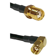 SMA Reverse Thread Female on Belden 83242 RG142 to SMA Reverse Polarity Right Angle Male Coaxial Cab