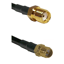 SMA Reverse Thread Female on Belden 83242 RG142 to SMA Reverse Polarity Female Coaxial Cable Assembl