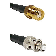 SMA Reverse Thread Female on Belden 83242 RG142 to SHV Plug Cable Assembly