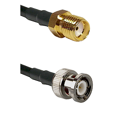 SMA Reverse Thread Female on LMR100 to BNC Male Cable Assembly