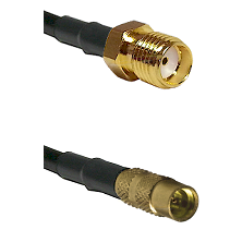 SMA Reverse Thread Female on LMR100 to MMCX Female Cable Assembly