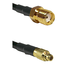 SMA Reverse Thread Female on LMR100 to MMCX Male Cable Assembly