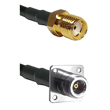 SMA Reverse Thread Female on LMR100 to N 4 Hole Female Cable Assembly