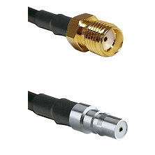 SMA Reverse Thread Female on LMR100 to QMA Female Cable Assembly