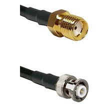 SMA Reverse Thread Female on LMR-195-UF UltraFlex to MHV Male Cable Assembly