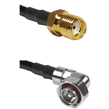 SMA Reverse Thread Female on LMR-195-UF UltraFlex to 7/16 Din Right Angle Male Coaxial Cable Assembl