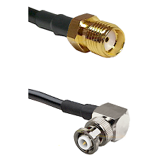 SMA Reverse Thread Female on LMR-195-UF UltraFlex to MHV Right Angle Male Cable Assembly
